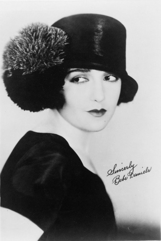 1920s movie star Bebe Daniels