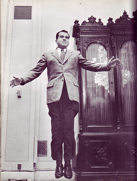 Richard Nixon jumping