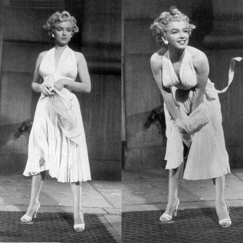 A different view of Marilyn's iconic white dress