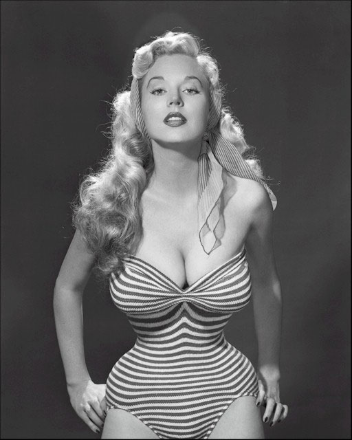 Betty Brosmer and her tiny waist