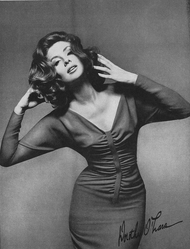 1960s fashion photo of model Suzy Parker