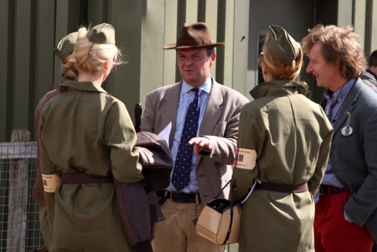 Vintage military fashion at Goodwood Revival 2012