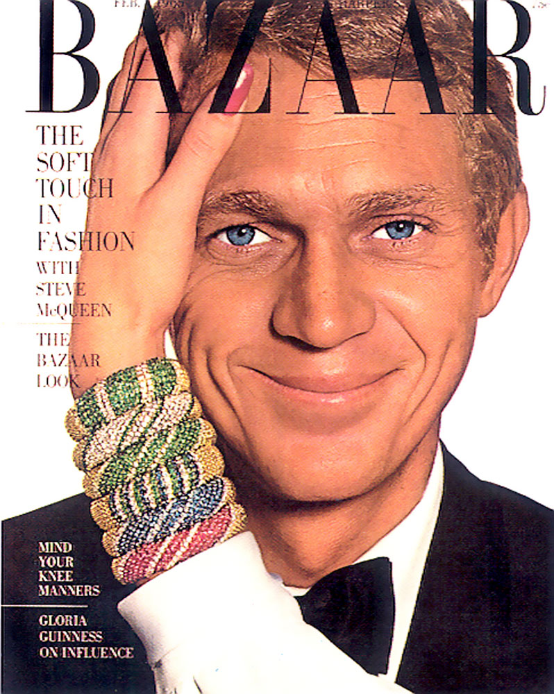 Steve McQueen on the cover of Harpers Bazaar