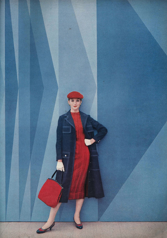 Vintage 1950s Vogue fashion photo