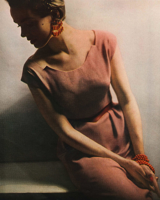 1950s fashion photo Harpers Bazaar