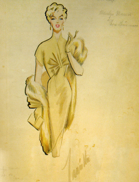 Marilyn Monroes costume design