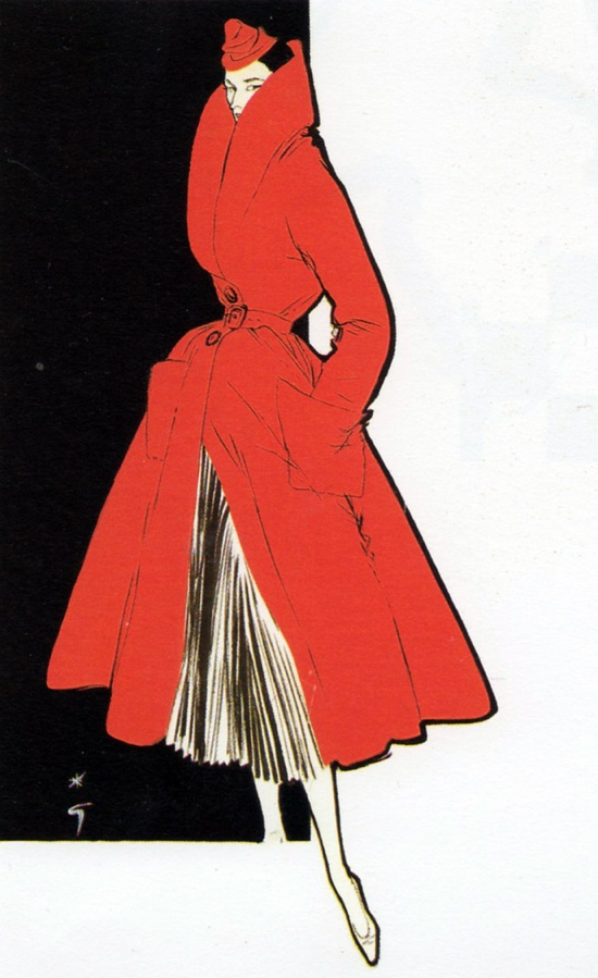 Gruau 1950s fashion illustration
