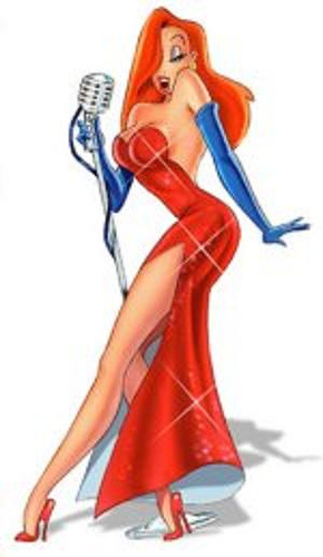 Jessica Rabbit's red dress
