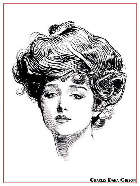 Gibson girl pin up
