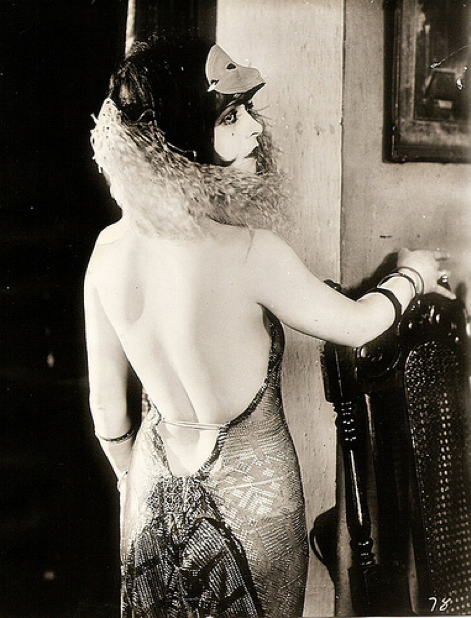Clara Bow backless gown