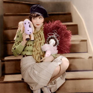 Clara Bow in colour