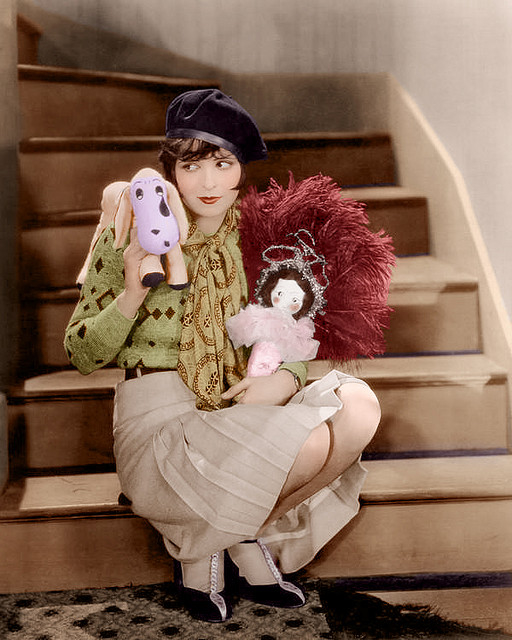 Clara Bow colour photo