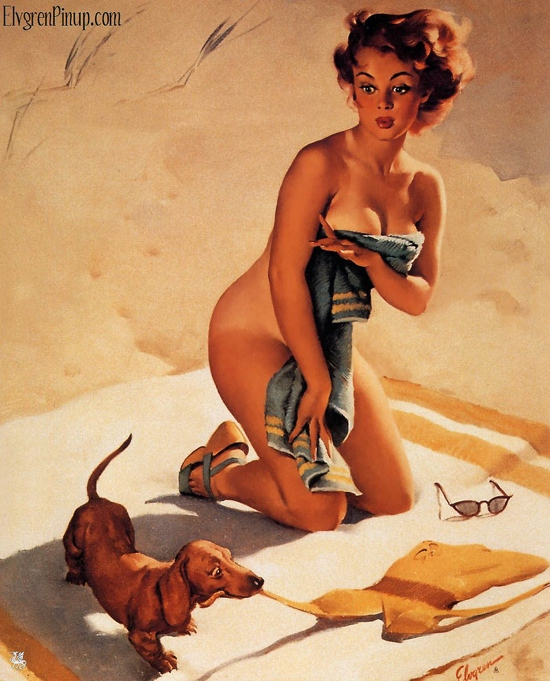 Gil Elvgren pin up from 1950