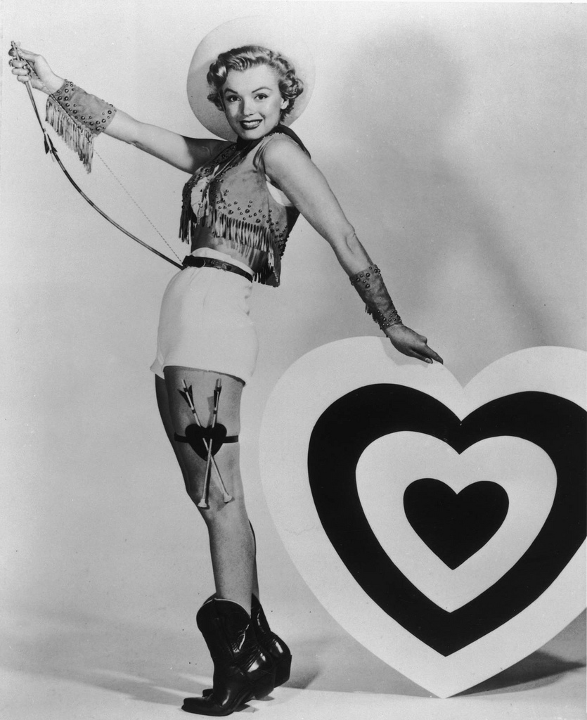 Marilyn Monroe Valentine pin up