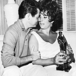 Elizabeth Taylor with husband Eddie Fisher