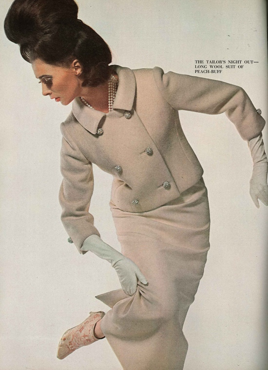 Wilhelmina Cooper 1960s model Vogue