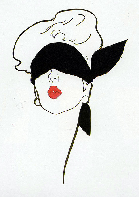 Gruau fashion illustration