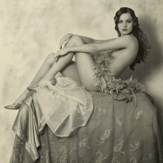 Nude Ziegfeld Follies girl (except for a few feathers and a pair of shoes)