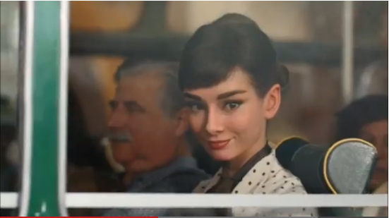 Audrey Hepburn's Galaxy chocolate advert