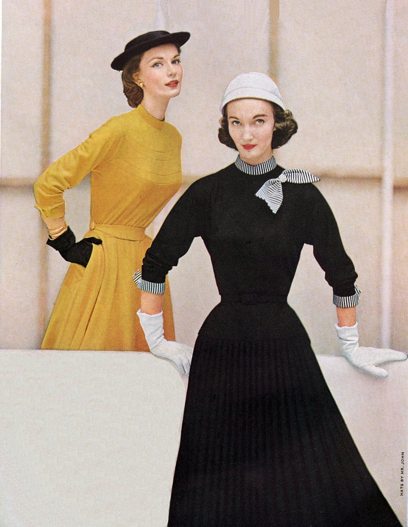 Evelyn Tripp in 1950s Vogue