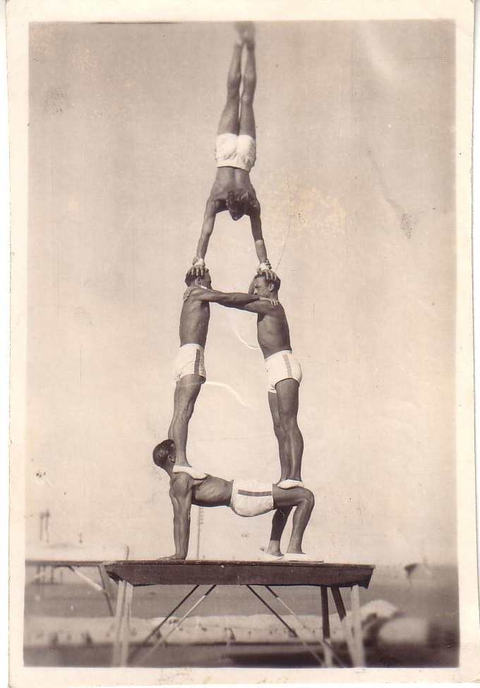 Vintage circus acrobats 1930s