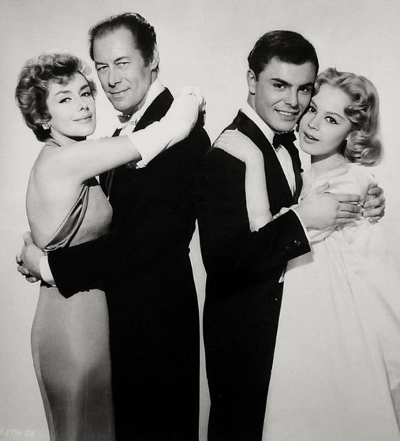 Kay Kendall, Rex Harrison, John Saxon,  Sandra Dee