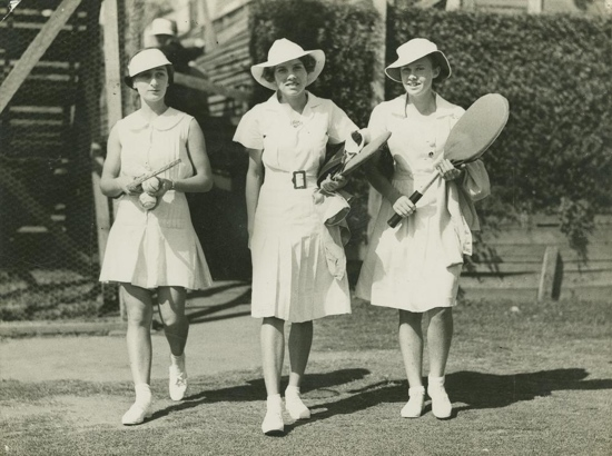 1940s ladies tennis fashions