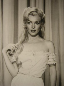 Marilyn Monroe with long hair