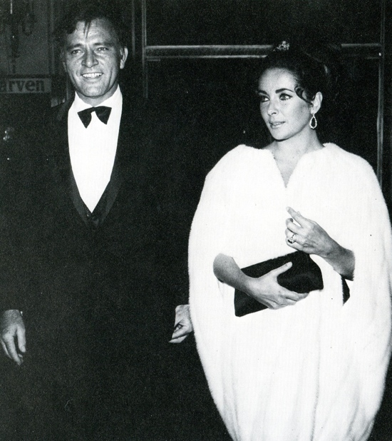 Liz Taylor and Richard Burton looking every inch the A list couple