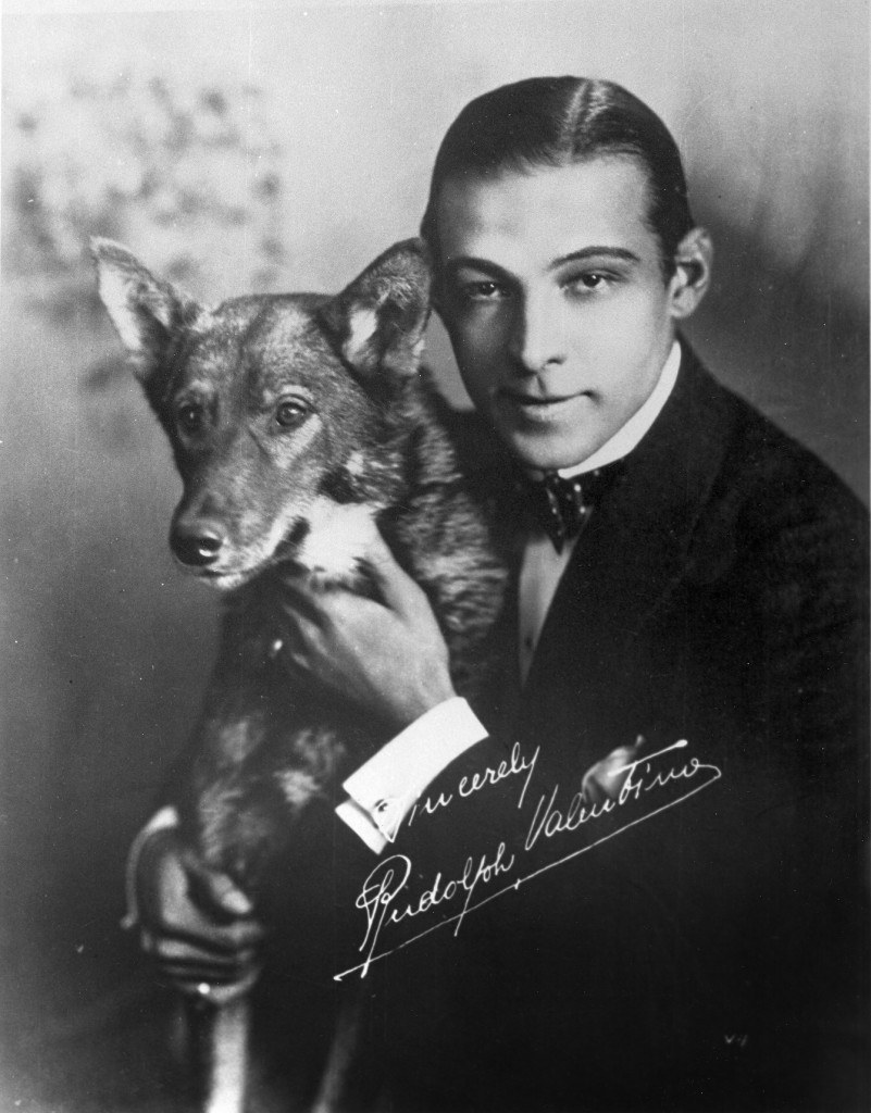 Rudolph Valentino and his dog