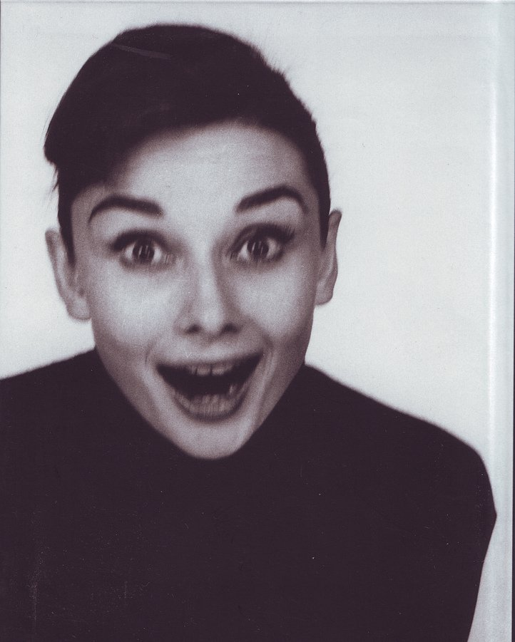 Audrey Hepburn looking shocked