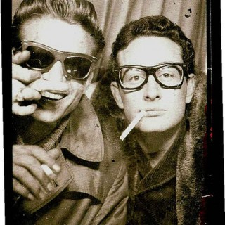 Buddy Holly looking cool in a photo booth