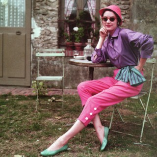 1950s colourful capri pants
