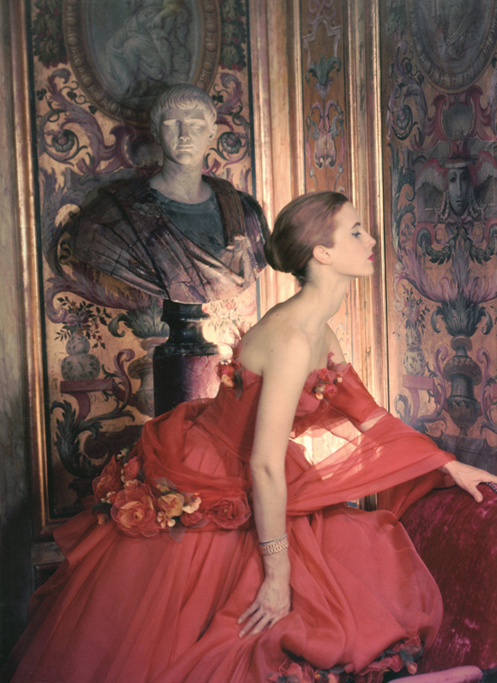 A 1950s evening gown photographed by Cecil Beaton