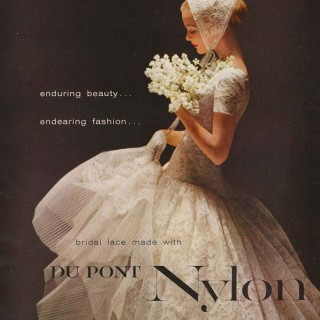Who knew a nylon wedding dress could be so beautiful?