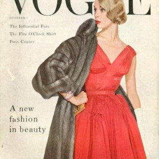 Jean Patchett on the cover of 1950s Vogue