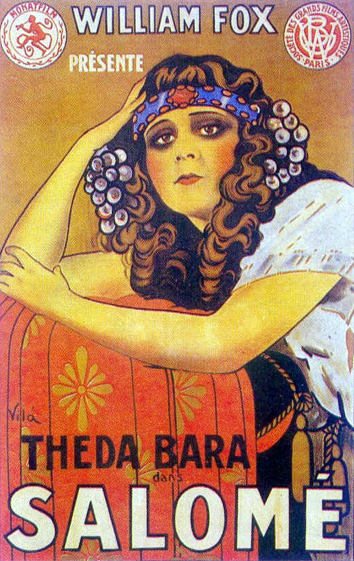 Vintage movie posters: Theda Bara as Salome