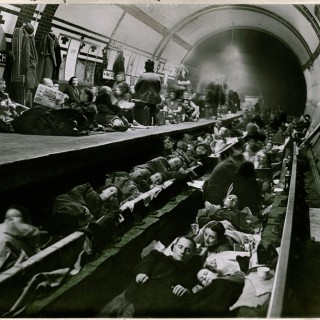 Sheltering from the Blitz at Aldwych Tube station