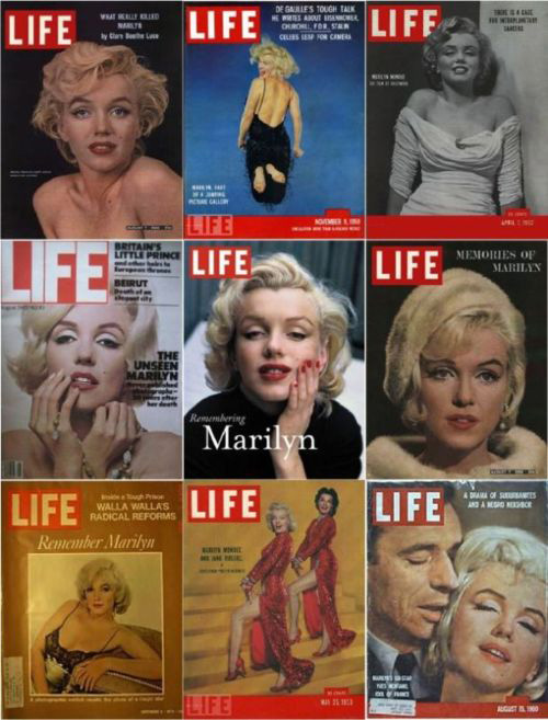 Marilyn Monroe's LIFE Covers