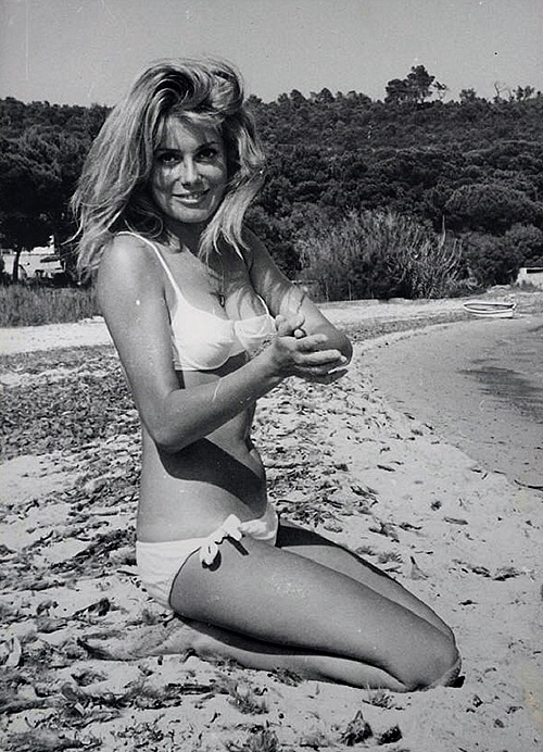 Catherine Deneuve in a bikini, 1960s