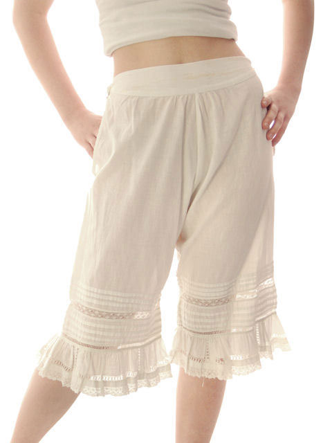 Vintage Antique Ladies Bloomers White Cotton