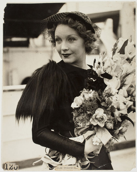 Helen Twelvetrees wearing a dress designed by Elsa Schiaparelli