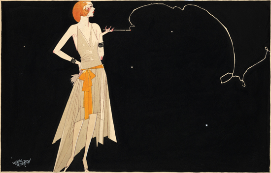 Original 1920s flapper illustration